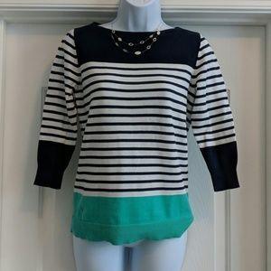 Chaps 3/4 sleeve lightweight sweater